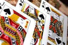 Free King, Jack, And Queen Of Spades Playing Cards Royalty Free Stock Photography - 115844117