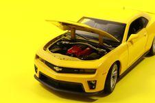Free Yellow Chevrolet Camaro Die-cast Model Stock Image - 115844131
