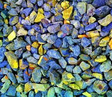 Free Gray And Yellow Gravel Stones Stock Image - 115844341