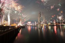 Free Fireworks, Reflection, Cityscape, Night Stock Photography - 115876682