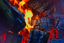 Free Blue, Campfire, Heat, Geological Phenomenon Stock Images - 115876724