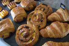 Free Baked Goods, Danish Pastry, Pain Au Chocolat, Bread Royalty Free Stock Image - 115876826