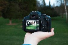 Free Shallow Focus Photography Of Black Dslr Camera On Person S Right Hand Royalty Free Stock Images - 115913649