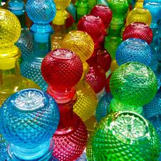 Free Assorted-color Cut Glass Decanter Lot Royalty Free Stock Photos - 115913808