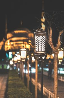 Free Photograph Of Lined Post Lamps During Nightime Royalty Free Stock Photos - 115976918
