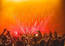 Free People Enjoying The Concert Stock Photo - 115976940