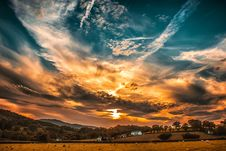 Free Orange And Blue Skies During Sunset Stock Photography - 115976972