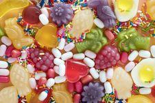 Free Pile Of Gummy Fruit Candies Stock Photos - 115977053
