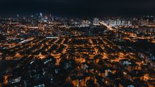 Free Aerial Photo Of City Buildings During Night Time Stock Photo - 115977070