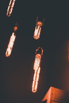 Free Light Bulbs Turned On Royalty Free Stock Photography - 115977107
