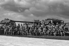 Free Greyscale Photography Of Group Of Soldiers Stock Photography - 115977122