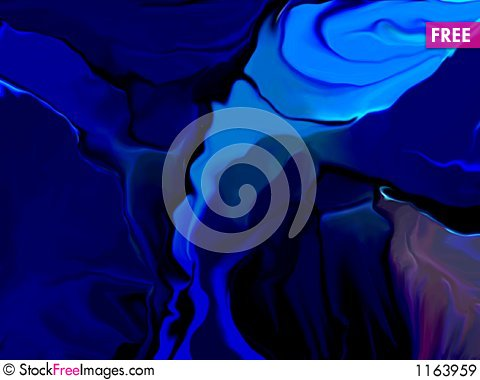 Abstract blue silk Stock Photo