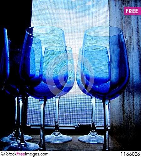 Blue glasses Stock Photo