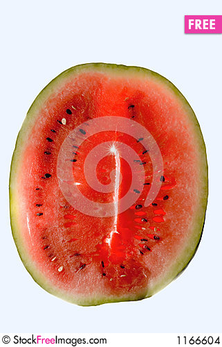 Watermelon over white Stock Photo