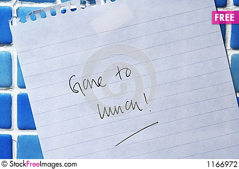 Free Gone To Lunch Stock Photography - 1166972