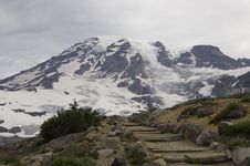 Free Steps Leading Up To Mt Rainier Royalty Free Stock Image - 1161636