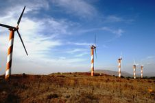 Free Wind Turbine Field Royalty Free Stock Photography - 1162607