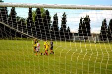 Young Soccer Players Royalty Free Stock Photography
