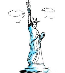 Free Statue Of Liberty, Illustration Stock Images - 1163594