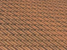 Free Old Red Brick Roof Stock Photography - 1165032