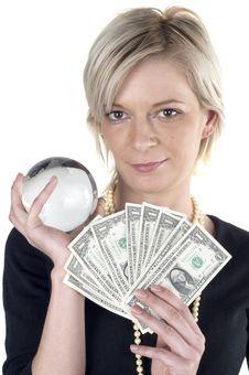 Free Girl Holding Money Royalty Free Stock Photos - 1165328