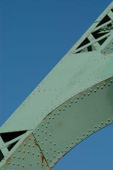 Jacques Cartier Bridge (detail), Montreal, Canada Royalty Free Stock Image