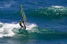 Free Windsurfer On A Wave Royalty Free Stock Image - 1165976