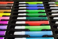 Free Tray Of Colored Pens Royalty Free Stock Photo - 1166135