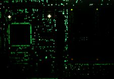 Backlit Circuit Board Royalty Free Stock Photography
