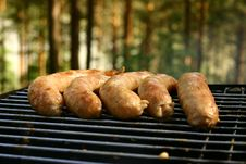 Free Sausages On A Grill Royalty Free Stock Image - 1167586