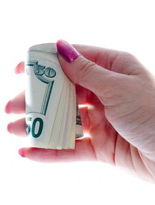 Free Dollars In Hands Stock Photography - 1169262