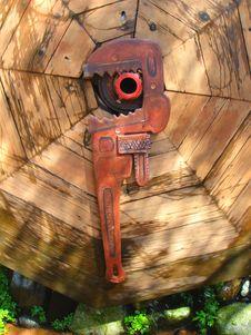 Giant Monkey Wrench Stock Photography