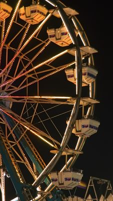 Free Nightime Ferris Wheel Royalty Free Stock Photos - 1169718