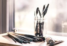 Free Selective Focus Photography Of Paint Brush Set Royalty Free Stock Image - 116049786