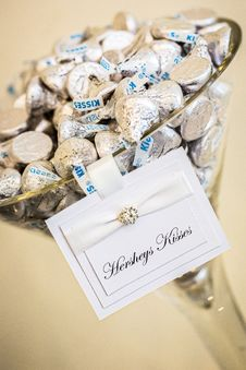 Free Hersheys Kisses On Glass Container Royalty Free Stock Image - 116050086