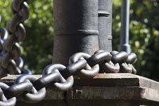 Free Brown Metal Linked Chain Stock Image - 116050121