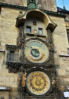 Free Clock, Clock Tower, Medieval Architecture, Facade Stock Images - 116069574