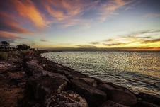 Free Scenic View Of Ocean During Dawn Stock Image - 116147291