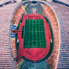Free Aerial Photography Of Multicolored Soccer Field Royalty Free Stock Photography - 116147377