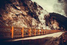 Free Concrete Road Near Mountain At Daytime Stock Image - 116147391