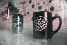 Free Black Mug Near Can Stock Photo - 116147440