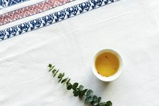 Free Green Leafed Plant Beside Sauce On White Table Mat Royalty Free Stock Image - 116147476