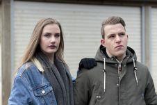 Free Man Wearing Gray Jacket Beside Woman Wearing Blue Denim Jacket Stock Images - 116147604