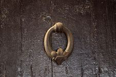 Free Wood, Texture, Door Knocker, Metal Royalty Free Stock Photography - 116176567