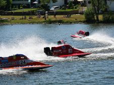 Free Hydroplane Racing, Drag Boat Racing, Waterway, Water Stock Images - 116176924