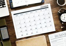 Free Flat Lay Photography Of Calendar Stock Photo - 116232190