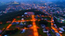 Free Aerial Photography Of Lighted Houses Taken During Nighttime Stock Photos - 116232323