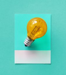 Free Bulb, Card, Colorful Royalty Free Stock Photo - 116322655