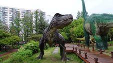 Free Dinosaur, Tyrannosaurus, Velociraptor, Tree Stock Photography - 116331672