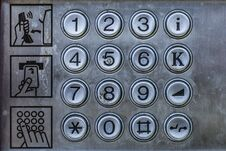Free Old Telephone Booth Metal Numbers And User Manual Royalty Free Stock Photo - 116362455